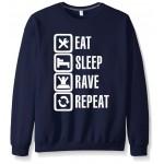 2017 new autumn winter harajuku hoodies fashion brand men eat sleep game sweatshirt top fleece streetwear male funny hip hop