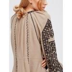2017 new free shipping national retro style dress women boho dress embroidery tassel loose hippie chic dress people hot vestidos