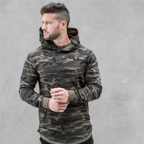 2017 spring new Mens Camouflage Hoodies Fashion leisure pullover fitness Bodybuilding jackets Sweatshirts sportswear topcoat