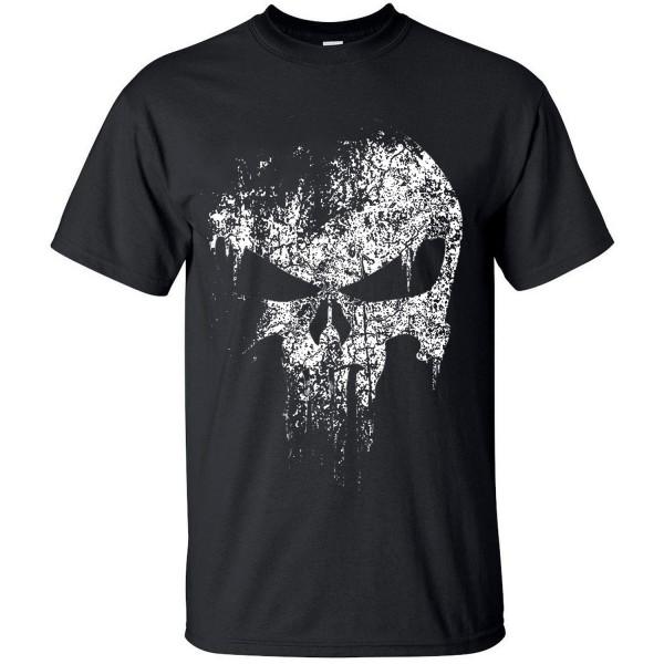 2017 streetwear Punisher Skull hip hop Supper Hero t shirt harajuku Men short sleeve T-Shirt brand cotton clothing crossfit tops