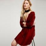 2017 women brand dress winter casual velvet warm dress velour spandex red elegant loose dress vestidos velour large dress