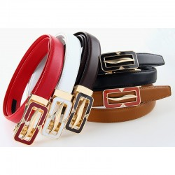 2018 Hot Fashion Wide Genuine Leather Belt Woman Cow Skin Belts Girls Dress Jeans Belts Automatic Waist Band 110 130 135 cm