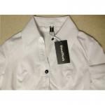 2018 New Fashion Elegant Short sleeve V neck OL Body Shirt Blouse office work wear Button Design blusas White Black S-XXL SY0173