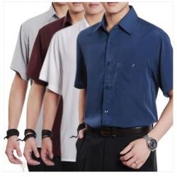 2018 summer casual shirt short-sleeve shirt quinquagenarian thin  shirt men slim fit shirts M, L, XL, XXL, XXXL , XXXXL