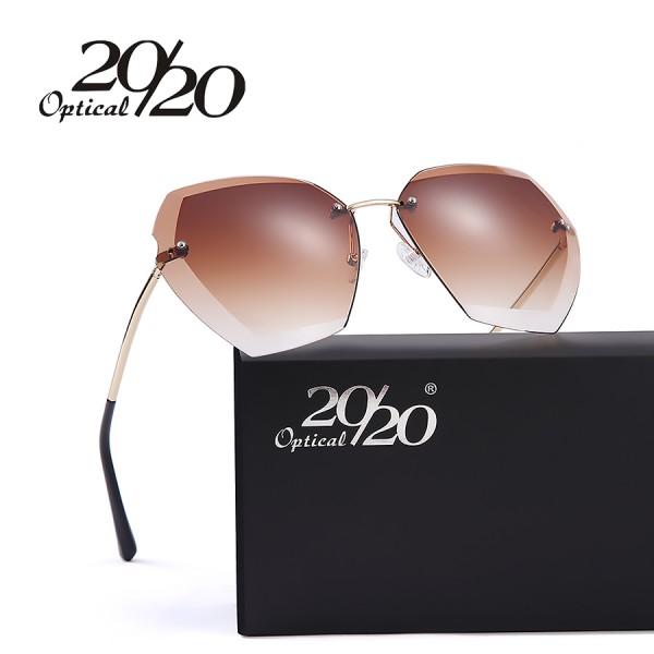 20/20 New Fashion Women Sunglasses Luxury Brand Design Coating Gradient Lens Sun glasses Driving Metal Frame Glasses UV400