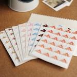 24 pcs/lot DIY  Floral Print Corner Paper Stickers for Photo Albums Frame Decoration Scrapbooking Wholesale 8 color