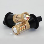 2pcs Newest 1156 DRL LED Fog Lights Dual Color White Yellow Lamps Replacement for Turn Signal Blinker Light 12V 30W Bulbs CJ