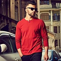3XL 4XL 5XL 6XL Mens T-shirt Oversized T shirts Male 2016 Casual Cotton Long Sleeve T shirt Men Plain Red Grey Black White 1044