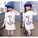 4-14 Children Girls Tops Tees Spring Brand Wear Long Sleeve Girls T shirt Dress Cartoon Sweatshirts Girl Casual Clothing