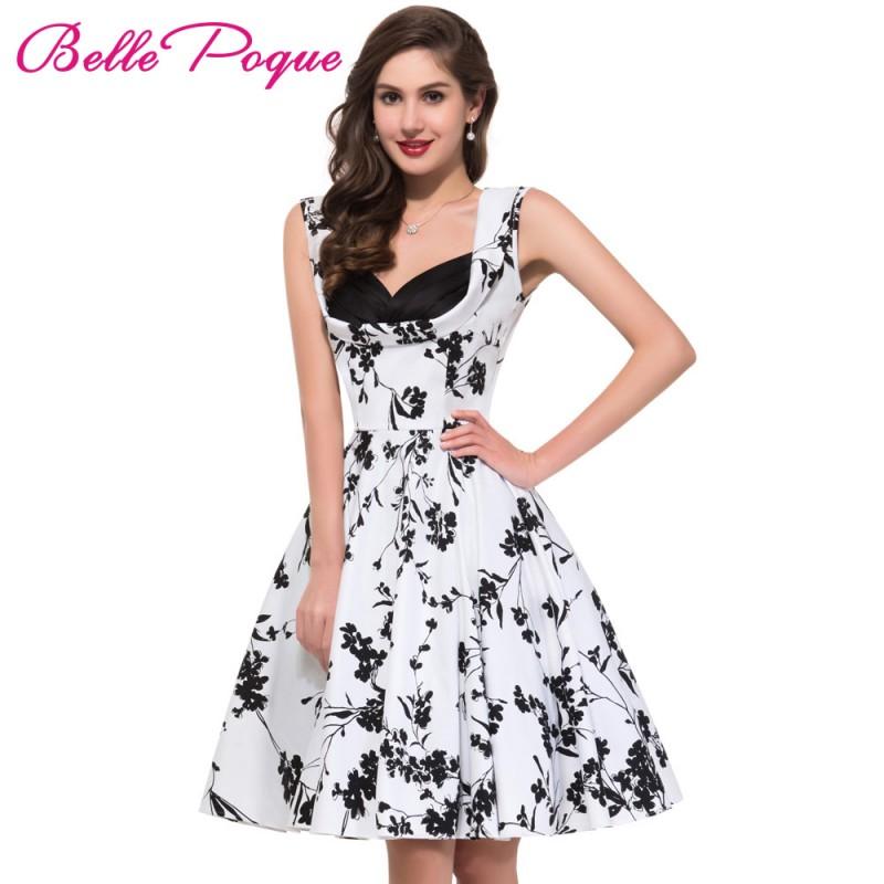 8f0f70464eecf 50s 60s Rockabilly Dresses 2017 Summer Style Retro Vintage Swing ...