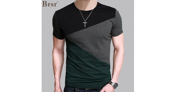 11d19dcd 6 Designs Mens T Shirt Slim Fit Crew Neck T-shirt Men Short Sleeve Shirt  Casual tshirt Tee Tops Mens Short Shirt Size M-5XL