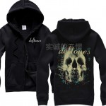 6 designs supper Cool Deftones tracksuit Rap Cute Cat Band Cotton Rock hoodies Skull spaceman punk metal zipper Sweatshirt