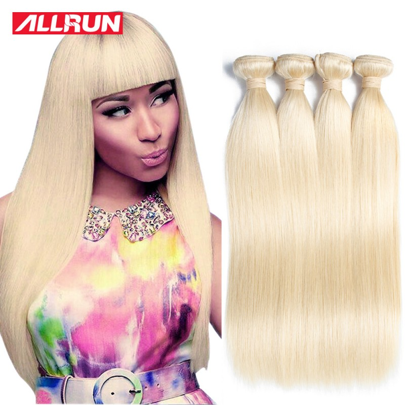 613 Blonde Virgin Hair Straight 4 Bundles Honey Blonde Brazilian
