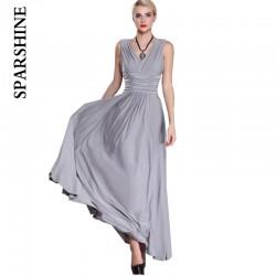 6XL plus size elegant women maxi dress2017 summer sleeveless v-neck sexy evening party club long big swing dresses vestidos robe
