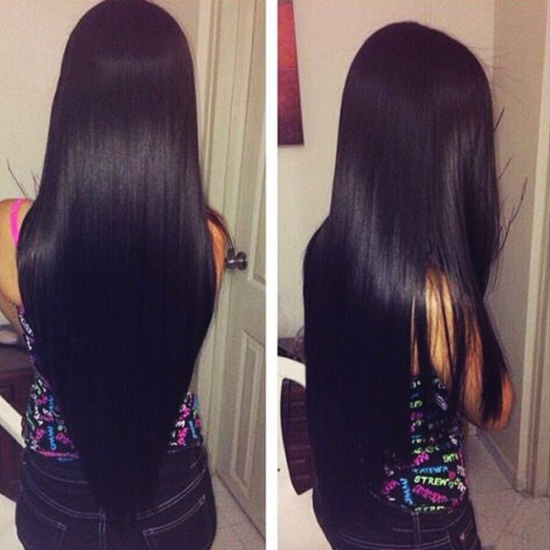 7a Indian Virgin Hair Straight Human Hair Extensions Raw Indian Hair