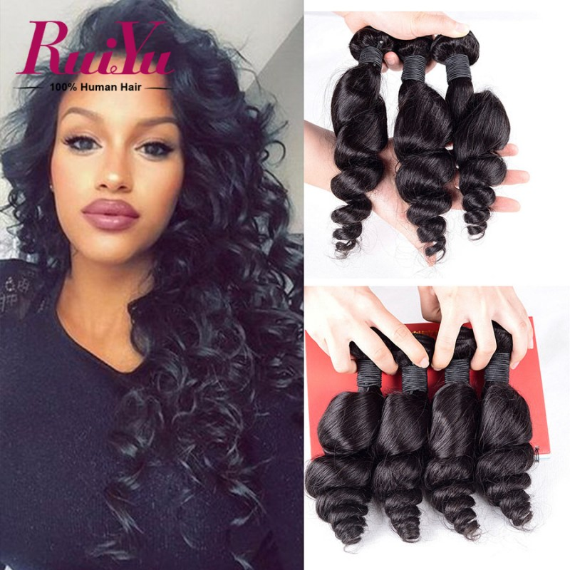 7a Peruvian Loose Wave Virgin Hair 4 Bundles Peruvian Virgin Hair