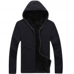 7XL,2016 New Men's Winter Fleece Hooded Sweatshirt Solid Casual Hoodies Soft Thick Warm Jackets Fashion Brand Coats SA116