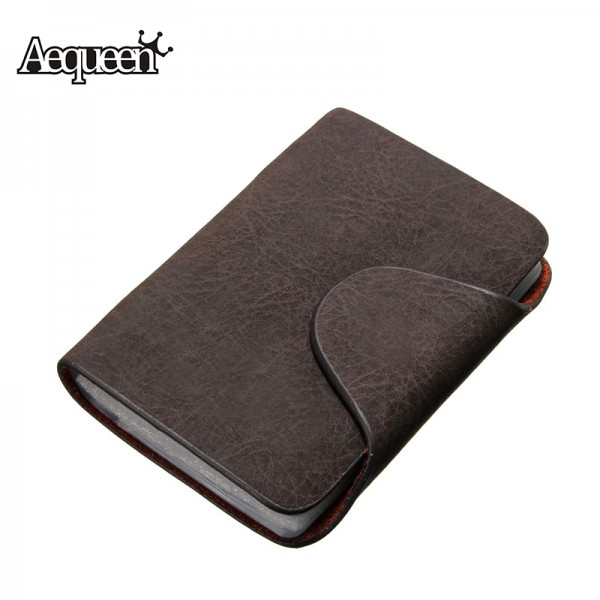Aequeen 20 bits business id credit card holder case nubuck pu aequeen 20 bits business id credit card holder case nubuck pu leather fold men cards holders slots wallet business card package colourmoves