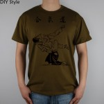 AIKIDO YOS KK T-shirt Top Lycra Cotton Men T shirt New Design High Quality Digital Inkjet Printing