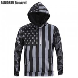 ALMOSUN Camouflage USA Flag Pocket 3D All Over Printed Hoodie Sweatshirt Hip Hop wear Jumper Hipster Men Women