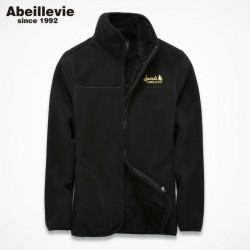 Abeillevie Fleece Hoodies Men Women Sweatshirts Zipper Lovers' Jackets Casual Street Wear tracksuit Men Winter Warm Sweatshirts