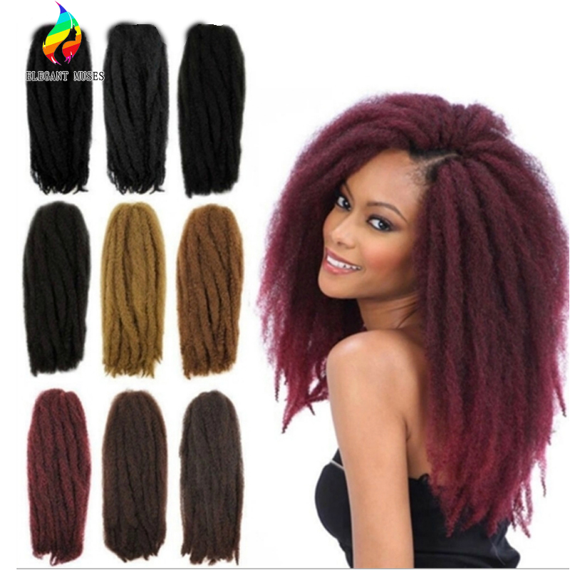 Afro Kinky Curly Twist Marley Braid Hair Extensions Synthetic Kinky