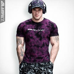 Aimpact Cotton Tie Dye Mens T-Shirts Ink Splash Tops Vintage Mineral Wash Short Sleeve tshirts for Men Crew Neck tshirt Fashion