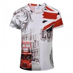 [Alisa]2016 Summer V Neck T-shirt Retro Newest Style 3D Printed T Shirt Men Brand Famous Luxury Clothing 3XL Plus Size