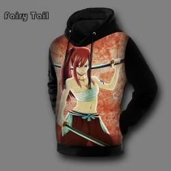 Anime Fairy Tail 3D Print Hoodies And Sweatshirts Men Hooded Pullovers Natsu Dragneel & Lucy Heartphilia Printed Fleece Hoody