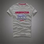 Anjoyfitch&kevin af 2016 summer t shirt men 100% cotton embroidery pattern short sleeve