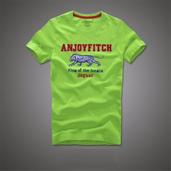 Anjoyfitch&kevin af 2016 summer t shirt men 100% cotton embroidery pattern short sleeve