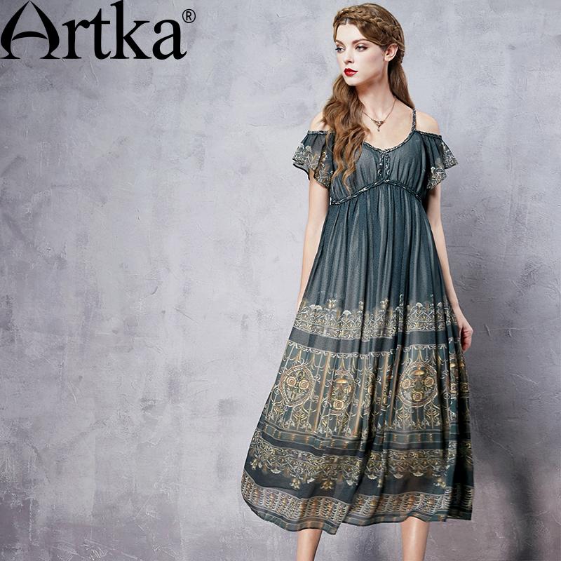 Teen vintage empire waist dress
