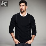 Autumn Mens Fashion Sweatshirts Striped Patch Black Pullover Man's Brand Clothing Male Slim Fit Clothes Tracksuit Tops