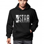 Autumn Winter Men Hoodies Full Sleeve Overcoat Fashion STAR Labs black Male Street Skateboard Sweatshirt Boys Personalized Men
