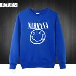 Autumn winter 3D men printed fashion nirvana Hondies 100% cotton round collar casual men's sweatshirt New brand male pullover