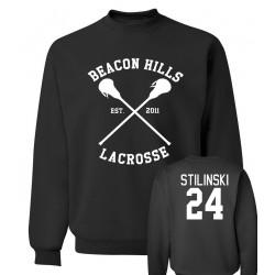 BEACON HILLS LACROSSE sweatshirt 2016 new autumn winter Wolf Stiles Stilinski 24 hoodies men streetwear hip hop  clothing