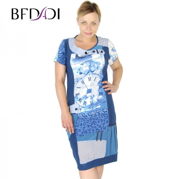 BFDADI 2016 Summer Style Large Size 5XL Dress Women  Mesh Splicing Slim Hollow Backless New Arrival Dresses 3269