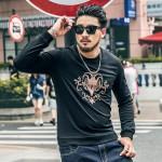 BIG GUY Casual Mens Clothing 2017 Spring Male Blouse Sweat Big Size Black Sweatshirts For Men 1462 PZ4