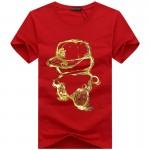 BINYUXD cotton 3DT-shirts men 2016 summer  funny teenage man's print T-shirt extended plus size 4XL 5XL white black red