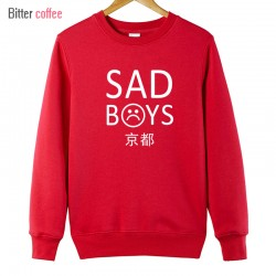BITTER COFFEE 2017 SAD BOYS Autumn Winter O Neck  sweatshirt  Hoodies & Sweatshirts Plus Size