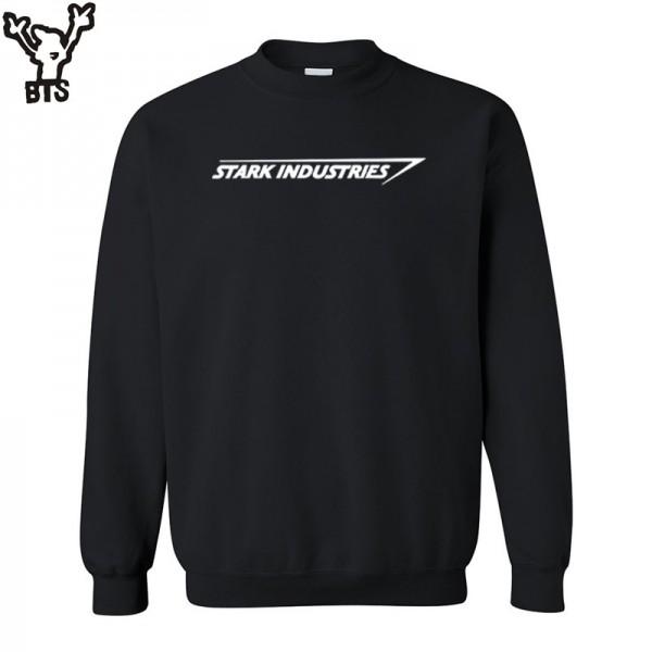 BTS New Autumn Fashion Long Sleeve  sweatshirt STARK INDUSTRIES TONY STARK IRON MAN MENS fleece hoodies sweatshirts