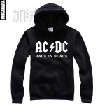 Band acdc metal back in black fleece pullover sweatshirt male Women plus size for men free shipping product