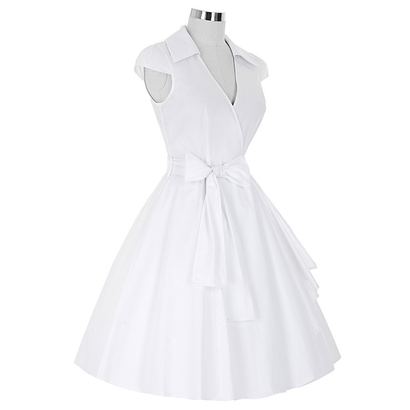 2daec780c63 Belle Poque 2017 Audrey Hepburn Summer Dresses Women Vintage Swing Robe  Rockabilly Housewife Retro 50s Pinup Dress Vestidos
