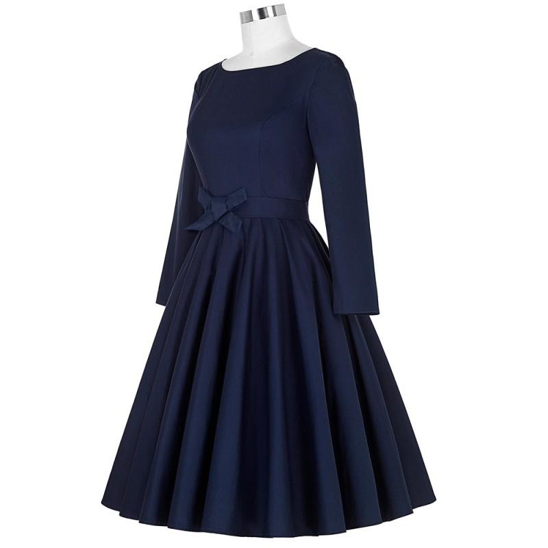 e19fd112f3 Belle Poque 2017 Robe Pinup Big Swing Long Sleeve 50s Vintage Dress Black  Women Autumn Female Party Dresses ...