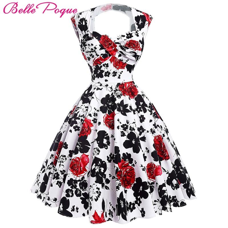 Belle Poque Women Summer Vintage 50s Dresses Audrey Hepburn ...