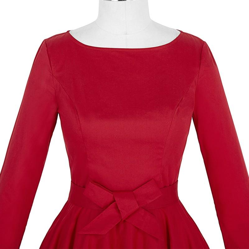 e8ff289c2eeea Belle Poque Women Vintage 50s Retro robe Rockabilly Dress 2017 Plus Size  Elegant Party Long Sleeve Tunic Summer Casual Dresses