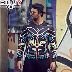 Big Guy Store Printed Quick Dry Sweat Shirt Male 2016 Spring Autumn Casual Men Sweatshirts 6XL 5XL 4XL 3XL Tracksuit Men 1263