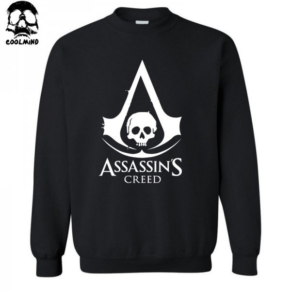 Big size Top Quality Cotton blend assassins creed men Hoodies casual cool fashion print crewneck sweatshirt for men C01