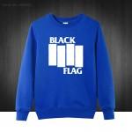 Black Flag punk rock band Henry Rollins large bars Printed Mens Sweatshirts For Men 2016 Plus Size  Cotton Hoodies Free Shipping