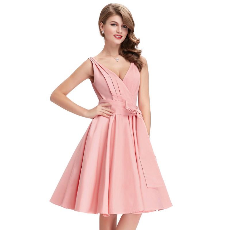 ecd5255b1a6 Black Pink Tunic Retro Vintage 1950s 60s Dresses Womens Rockabilly Dress  Pin up Vestidos Audrey Hepburn ...